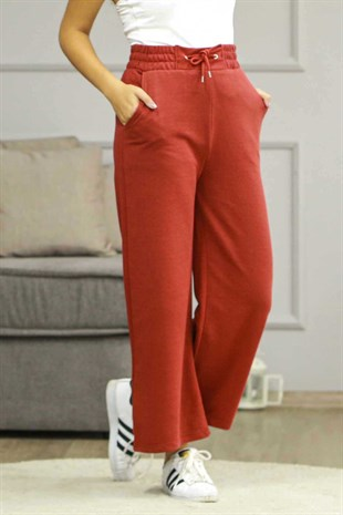 Mad Girls Claret Red Oversize Sweatpants MG680