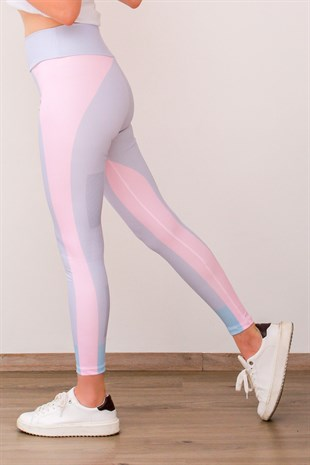 Mad Girls Pink Two-Tone Leggings MG580