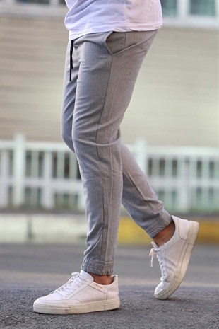 Madmext Grey Basic Trousers 4307