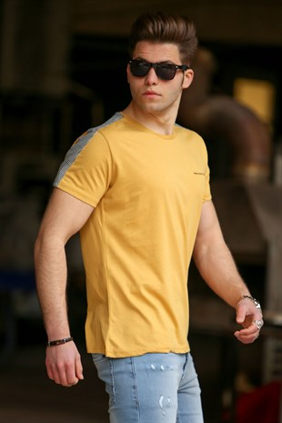 Madmext Yellow Basic T-shirt for Men 4513