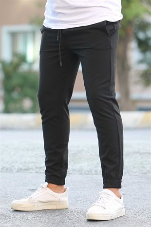 Madmext Black Basic Trousers 4307