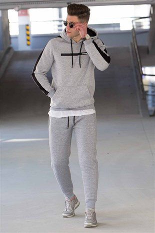 Madmext Printed Grey Tracksuit 44334228