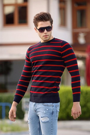 Madmext Claret Red Crewneck Jumper 4356