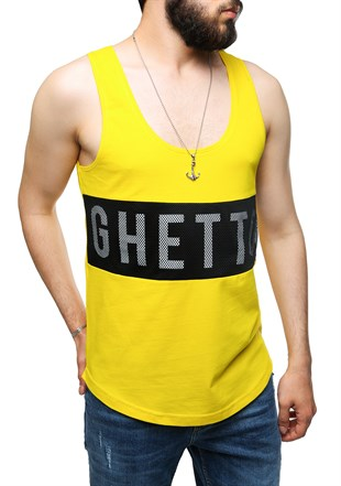 Madmext Yellow T-shirt for Men 2482
