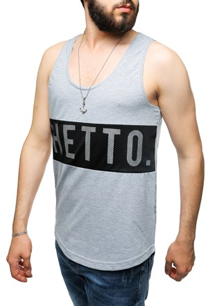 Madmext Grey T-shirt for Men 2482