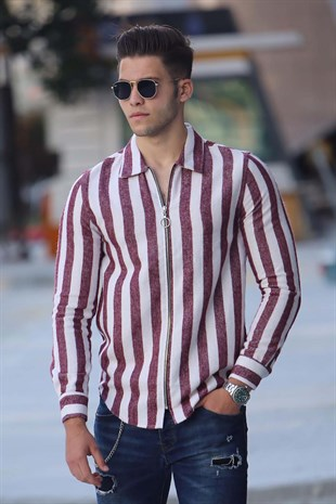 Madmext Relaxed Stripe Shirt