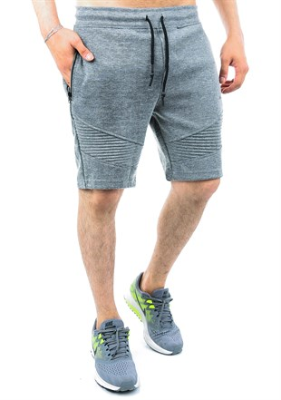 Madmext Grey Men Fitness Capri  2415