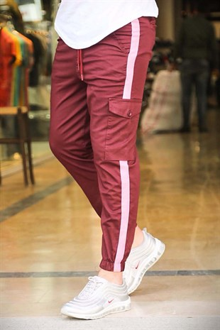 Madmext Claret Red Cargo Trouser 4056