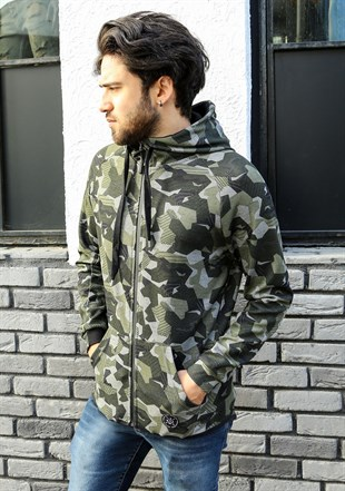 Madmext Camouflage Hooded Sweatshirt 2063