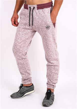 Madmext Casual Burgundy Joggers 0879