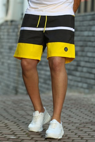 Madmext Yellow Swim Wear Short 4236