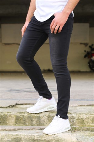 Madmext Siyah Slim Fit Jeans 9018