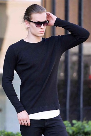 Madmext Black Sweatshirt 4150