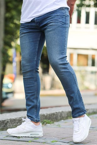 Madmext Slim Fit Lacivert Jean Mdx9037