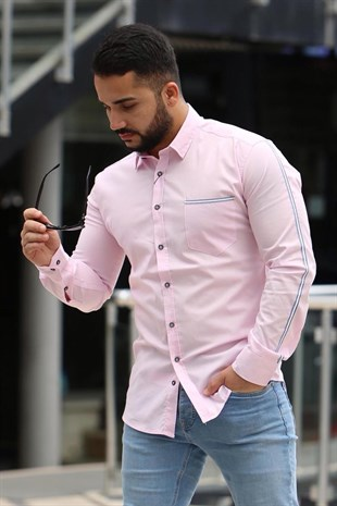Madmext Slim Fit Pudra Gömlek 4142