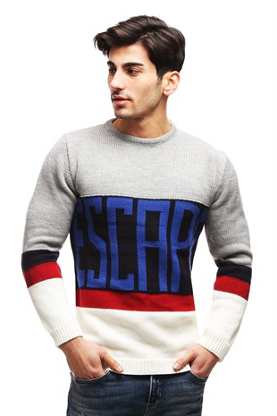 madmext Navy Blue Crewneck Knitting Jumper TC5661