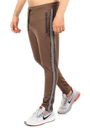 Madmext Men Camel Slim Fit Joggers 2701