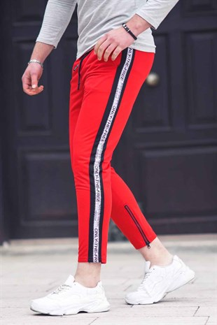 Madmext Striped Red Jogger 2421