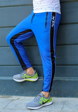 Madmext Blue Striped Sweatpants 2709