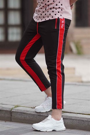 Madmext Black Striped Sweatpants 2709